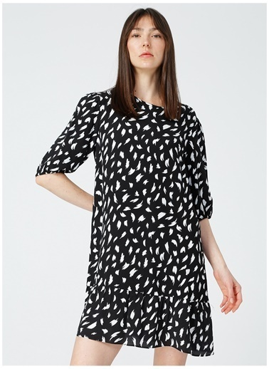 Limon Company Limon Kadın Siyah-Beyaz Elbise Siyah